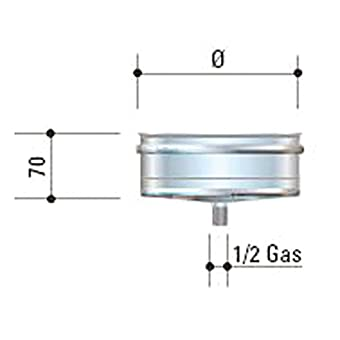 CORDIVARI–aluminié acier inoxydable D. 250Mono Mural AISI 316L CORDIVARI–-Bouchon évacuation condensat