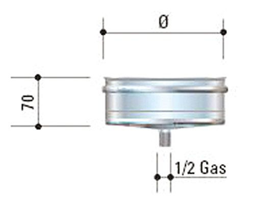 CORDIVARI–aluminié acier inoxydable D. 100Mono Mural AISI 316L CORDIVARI–-Bouchon évacuation condensat