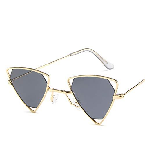Asolym Sonnenbrille Persönlichkeit Dreieck Hohle Sonnenbrille Mode Punk Wind Brille Mode Metall Sonnenbrille,8