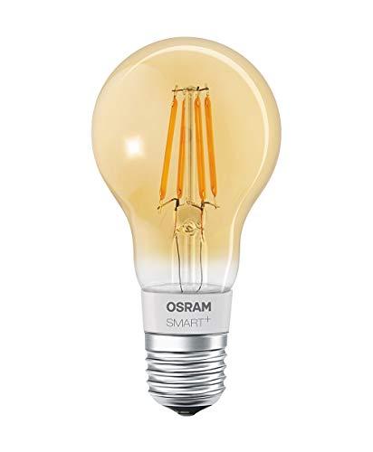 Osram Smart + LED filamento Oro | Apple HomeKit lampada con | dimmerabile | Sostituisce 60W, attacco E27Lampadina | Bianco Caldo | 4er Pack