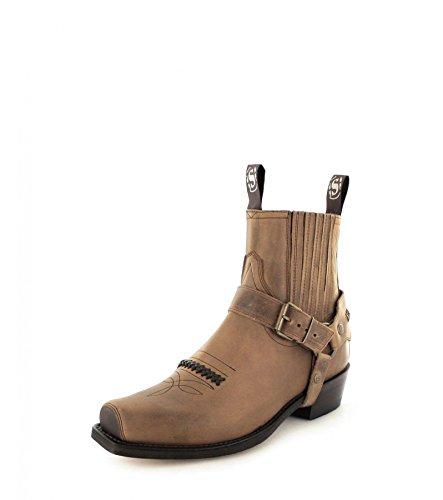 Sendra boots bottes 6445 bikerstiefelette motorradstiefelette Marron - Tangerine