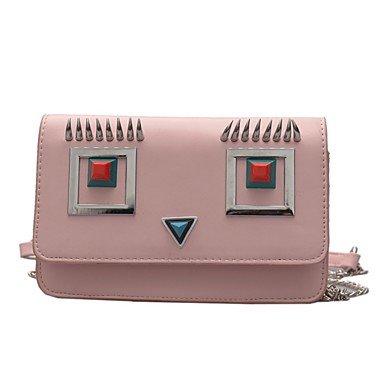 SUNNY KEY-Borsa a tracolla @ Donna PU (Poliuretano) Casual Borsa a tracolla Per tutte le stagioni , blue blushing pink