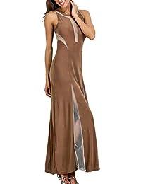 FuweiEncore Vestido Largo de cóctel sin Mangas de Verano Vestido Maxi de Fiesta (Color :