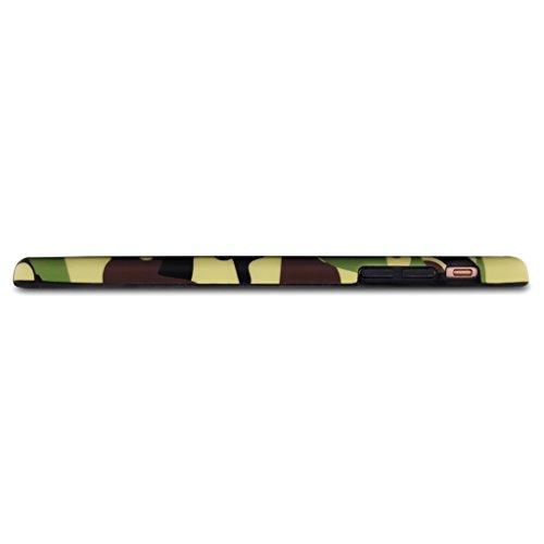 SGSELLER 4.7 iPhone 6 6S TPU Slim Fit Ultra Dünn Stoßfest Anti-Kratz Anti-Fingerabdruck Matt Schutzhülle Gehäuse, Plastik, Marmor (Holz) Camo (Green)