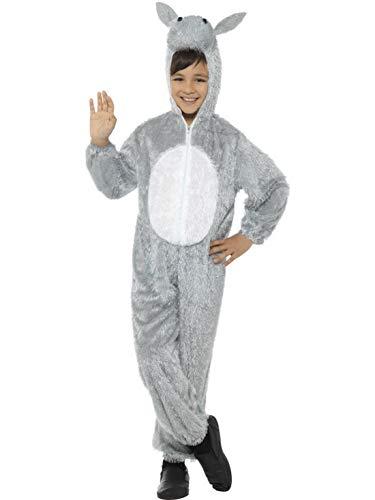 Luxuspiraten - Kinder Jungen Mädchen Kostüm Plüsch Esel Donkey Deluxe Fell Einteiler Onesie Overall Jumpsuit, perfekt für Karneval, Fasching und Fastnacht, 122-134, (Kinder Plüsch Esel Kostüme)