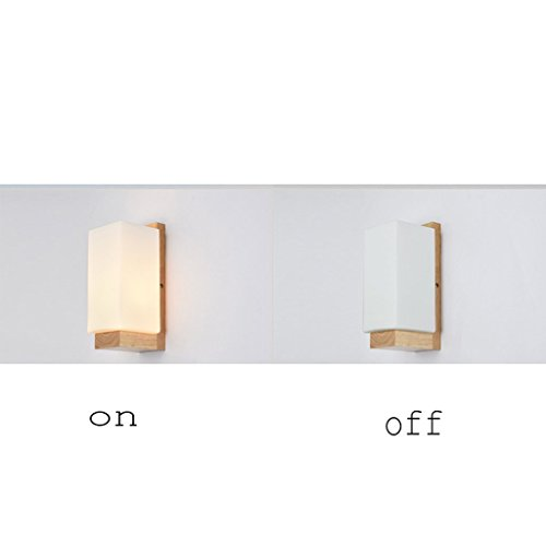 Wide-decken-leuchte (GYR Wall Lamp Wooden Minimalist Air Lamp Bedside Bedroom Hotel Aisle Wall Lamp)