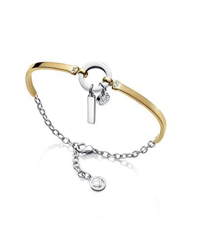Imagen de viceroy pulsera fashion 75140p01012 acero bitono con circonita