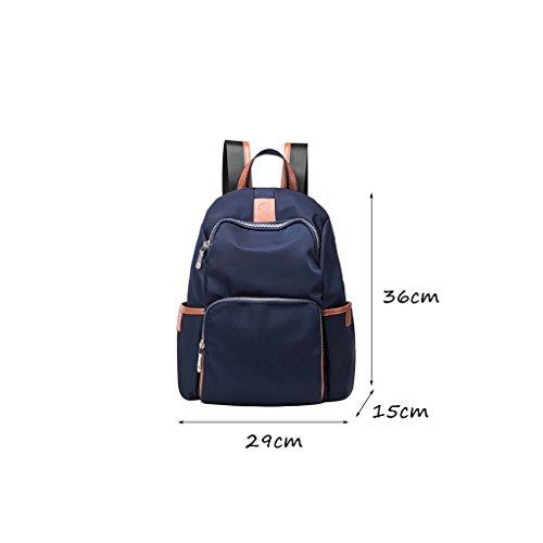 CLOTHES- Versione coreana del sacchetto di spalla casuale della tela di canapa di nylon del tessuto di Oxford di modo Oxford piccolo zaino del pacchetto della mummia ( Colore : Nero ) Blu
