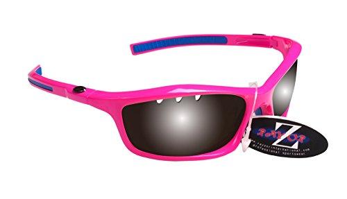 RayZor Liteweight UV400 Sportsonnenbrille für Golf, belüftete, verspiegelte antireflektierende Linse aus Rauchglass, Rosa.