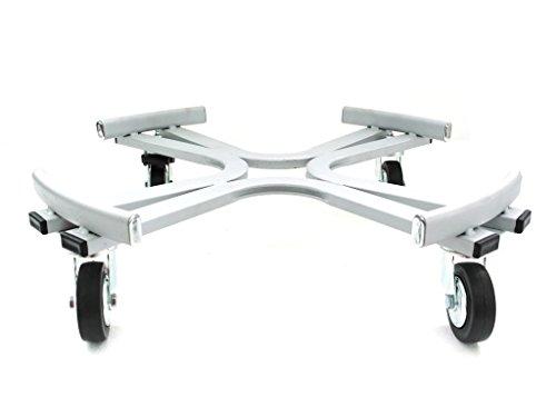 industriel rond chariot à roues cm. 65 aluminium