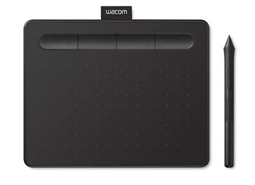 Wacom Intuos S Tableta Gráfica Negra - Tableta Gráfica Portátil para pintar, dibujar y editar photos con 1 software creativo incluydo para descargar*, compatible con Windows & Mac