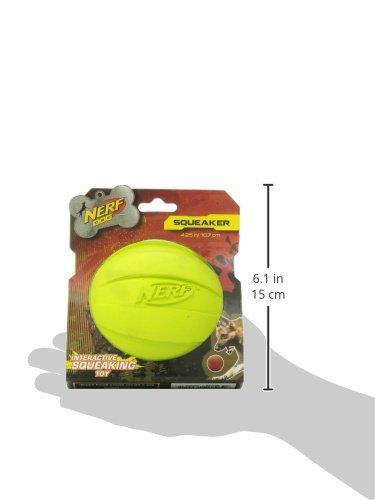Nerf Dog Squeak Ball, 4.25-Inch, Red 6
