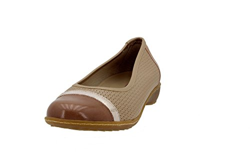 Chaussure femme confort en cuir Piesanto 4754 plat comfortables amples Nude