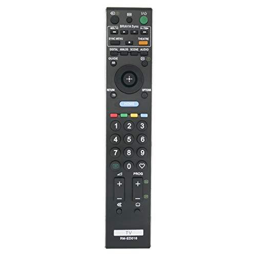 VINABTY RM-ED016 Mando a Distancia Compatible con Sony BRAVIA TV KDL40V4220 KDL40V4230 KDL46V4000 KDL46V4210 KDL52V4000 KDL52V4210 KDL32E5520 KDL32V5500 KDL32V5600 KDL32E500 KLV-KL