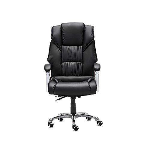 RUNWEI Spiel Stuhl Arbeitsstuhl Hohe Back Office Stuhl Schreibtisch Stuhl, Pu-Leder Computer Stuhl (Color : Black(1)) - Leder Back Spiel-stuhl