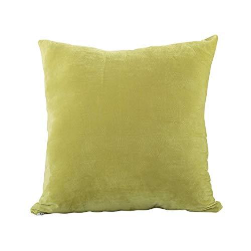 Evolive Soft Micromink Euro Sham-Abdeckung Pillowcase Replacement mit Reißverschluss Limette 26