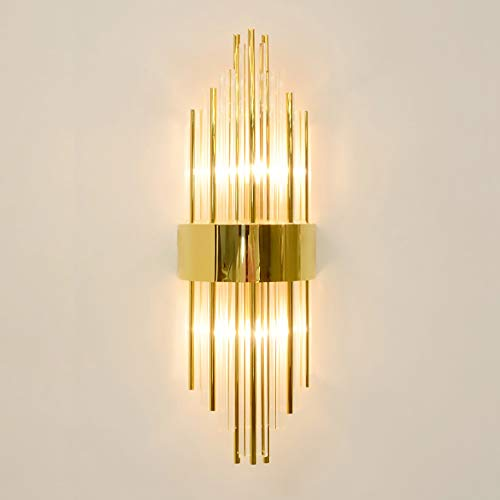 Post Modern Wall Lamps Nordic Crystal Glass Wall Sconce Lamp Corridor Gold Luxury Decoration E14 Led Bulb Wall Mounted Light Firm In Structure Lights & Lighting