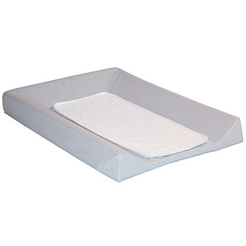 babyCalin Matelas à Langer Luxe Gris + Serviette Blanc