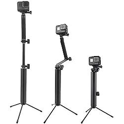 ETYGYH Stick Selfie, 3-in-1 espandibile Mini Selfie Stick treppiede 360 ° di Rotazione per GOPRO, Piccole formiche, Cani di Montagna, Metri e Molte Altre Fotocamere Sportive,C