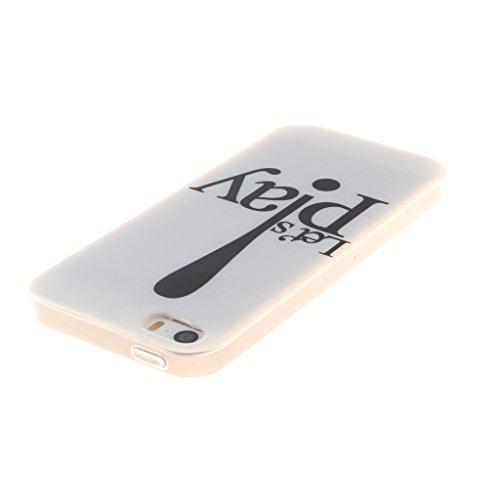 """SsHhUu iphone 5 Coque, Beau Fleur Ultra Slim Doux TPU Silicone Protecteur Painting Art Étui Housse Case Cover Pour Apple iphone 5 5S SE (4.0"""") Jouons"""