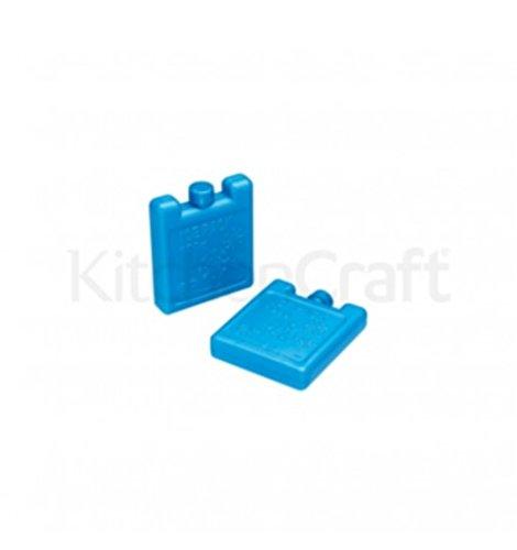 Kitchen Craft Blaue Mini-Kühlelemente - 2er-Set x 100g - 7cmx8cm