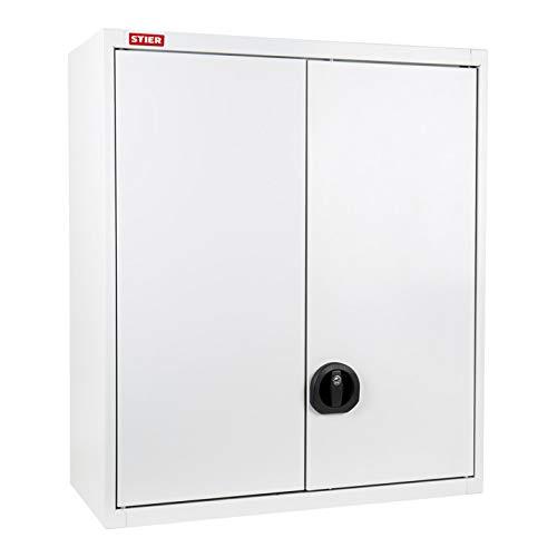 STIER Werkstatthängeschrank leer, 800 x 700 x 300 mm, robustes Schließsystem, Lochraster, eine...