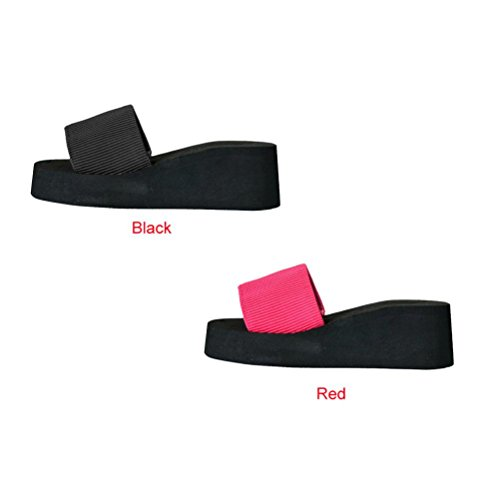 Omiky® Frauen Sommer Schuhe Sandalen Slipper indoor & outdoor Schwarz