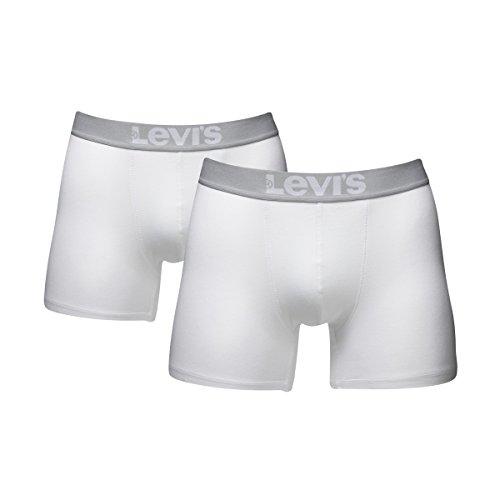 6 er Pack Levis Boxer Brief Boxershorts Men Herren Unterhose Pant Unterwäsche 300 - white
