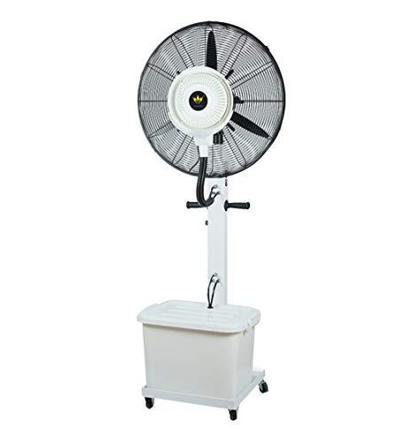 Ventilateurs tour Ventilateur brumisateur extérieur oscillant - grand refroidisseur à jet d'air industriel Humidificateur à industriel 3 réglages de vitesse Réservoir d'eau blanc fort silencieux Écono