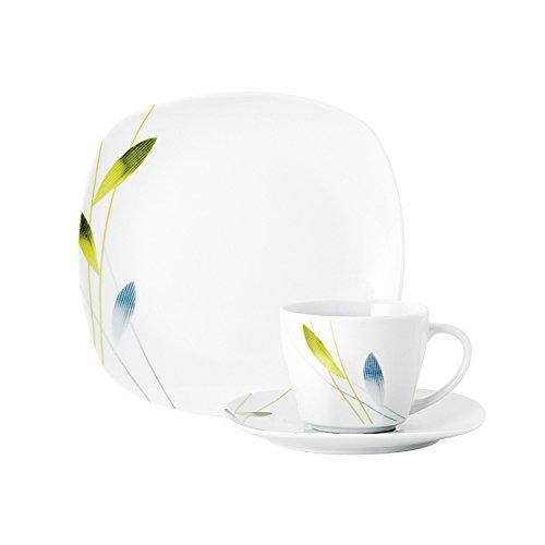 Wellco 2080070 Kaffeeservice Serenade, für 6 Personen, Porzellan (1 Set, 18-teilig)