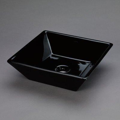 ronbow Essentials Formation 40,6cm quadratisch Keramik Schiff Waschbecken in schwarz 200005-bl (China Top Vitreous)