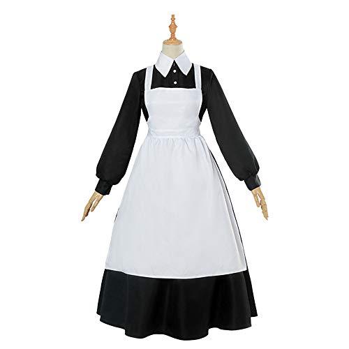 ZQ Erwachsene Französisch Maid Kostüm Sweet Gothic Kleid Anime Cosplay Schwarz Weiß Maid Uniform Halloween Kostüm für Frauen,XXL