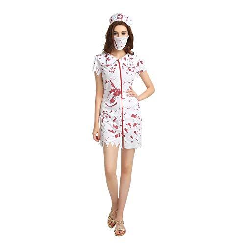 Kostüm Verschiedene Horror - thematys Gruselige Horror Krankenschwester - Kostüm-Set für Damen - perfekt für Halloween, Fasching & Karneval - 3 Verschiedene Größen (L)
