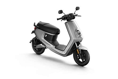 NIU M+ Scooter Elettrico - Panasonic Batteria agli ioni di Litio - Motore Bosch - Portata 100 km - 45 km/h (Argento)