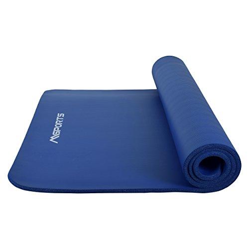 Gymnastikmatte Premium inkl. Tragegurt + Übungsposter + Workout App GRATIS I Fitnessmatte Königsblau - 190 x 100 x 1,5 cm Hautfreundliche Phthalatfreie Yogamatte
