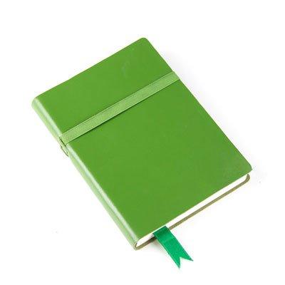 Vintage-Style Leder Tagebuch/Notizbuch, Recycling säurefreiem Papier-Grün-170x 120mm (Notebook Papier Säurefreiem)