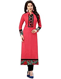 Kurtis For Women (Latest Low Price Designer Party Wear Orange Rayon Kurtis For Women/Girls)