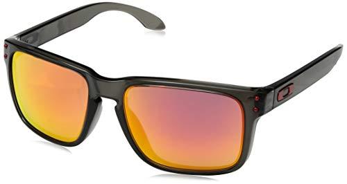 Oakley Herren Holbrook (A) 924404 56 Sonnenbrille, Grau (Grey Smoke/Rubyiridium),