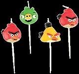 Mini Candele Set di 4-Colore: Multicolore-, motivo: Angry Birds- Avvertimento: sempre usare in presenza di un adulto