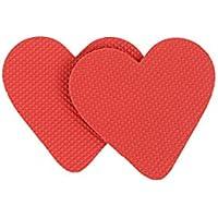 FENICAL Herzform Selbstklebende Antirutsch-Sohle für Männer Frauen Rutschfeste Schuhe 1 Paar (Rot) preisvergleich bei billige-tabletten.eu