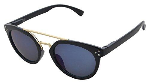 Modish Look Farbverlauf Schmetterling Frauen Sonnenbrille (  50mm ) (schwarz, blau)