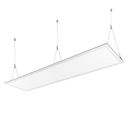 Lighting EVER LE 36W LED Panel ersetzt 80W Leuchtstoffröhre, 2700lm 295 * 1195mm, LED Panelleuchte mit Befestigungsmaterial und Trafo Panellampen, LED Deckenleuchte, Pendelleuchten Kaltweiß