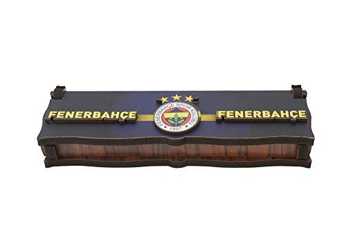 Gök-Türk Box Schatulle Aufbewahrung für Tesbih Gebetskette Schmuck 'Fenerbahce' aus Holz Handgemacht (ohne Gravur)