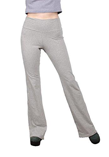Lofbaz Damen Leggings Flared Übung Sport Jogginghose Yoga Hose Grau Size L -