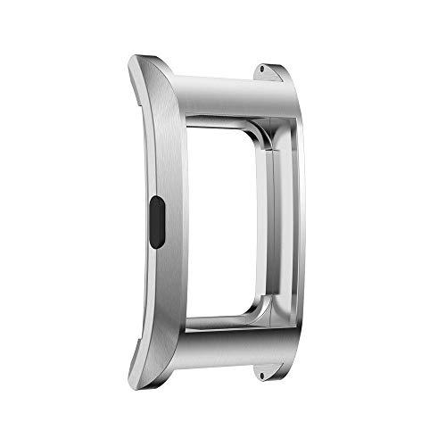 Colorful Für Fitbit Charge 2 Schutzhülle, Edelstahl Austausch Schutz Hülle Sport Fitness Ersatz Protection Zubehor für Fitbit Charge 2 (Silber)