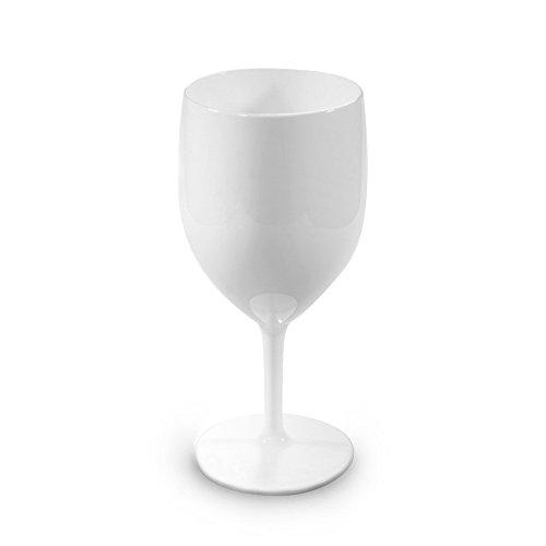 Unzerbrechlich Weißweingläser | Set 6 | Hohe Qualität Splitterfrei Wiederverwendbare Trinken Glas...