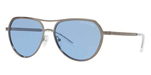 Michael Kors Damen Sonnenbrille 0MK1036, Mehrfarbig (Gunmetal), 57