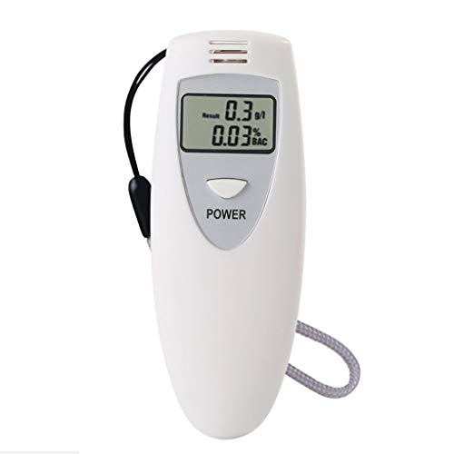 Ben-gi Portable Alkohol Tester Alkoholtester Blowing Analyzer Mini-Detektor LCD-Anzeige Weiß -