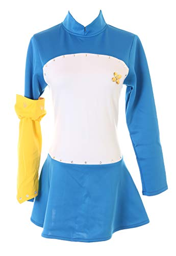 Kawaii-Story MN-82-2 Seven 7 Deadly Sins Elizabeth Liones Blau Weiß Kleid Set Fasching Kostüm Manga Anime Cosplay (XXL)