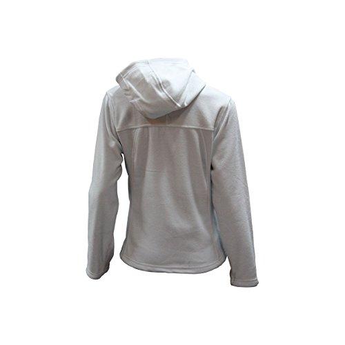 Veste micropolaire à capuche femme blanc ivoire